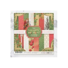Paper pad 24 feuilles 15.2 x 15.2 cm  Naughty or Nice Christmas