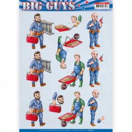 Carte 3D à découper - CD11328 - Big guys - Bricolage