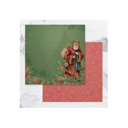 Papier scrap 30.5 x 30.5 cm  Naughty or Nice Christmas