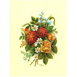 Image 3D vem 11 - 24x30 - bouquet rouge et jaune