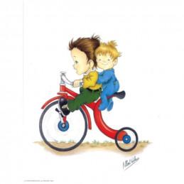 Image 3D - venezia 284 - 24x30  - Enfants sur Grand-bi