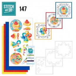 Stitch and do 147 - kit Carte 3D broderie - Joyeux anniversaire