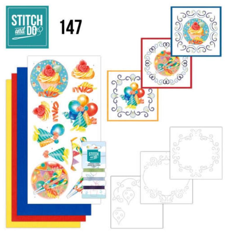 Stitch and do 147 - kit Carte 3D broderie - Joyeux anniversaire