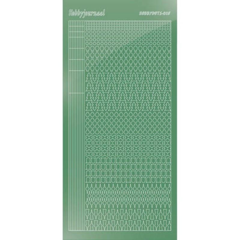 Stickers Hobbydots série 15 Miroir Vert pomme