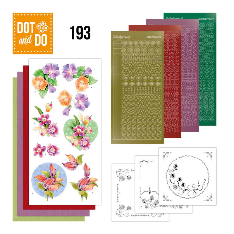 Dot and do 193 - kit Carte 3D  - Orchidée