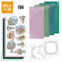 Dot and do 194 - kit Carte 3D  - Tricot et pêche