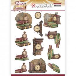 Carte 3D prédéc. - SB10508 -  Good old day's - Horloge