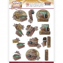 Carte 3D prédéc. - SB10509 -  Good old day's - Valises