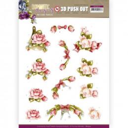 Carte 3D prédéc. - SB10515 - Romantic roses - Fleurs roses