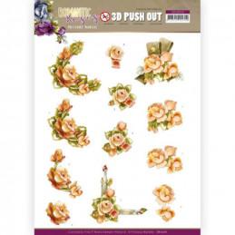 Carte 3D prédéc. - SB10516 - Romantic roses - Fleurs orange