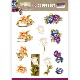 Carte 3D prédéc. - SB10518 - Romantic roses - Fleurs multicolores