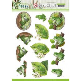 Carte 3D prédéc. - SB10523 - Friendly frogs - Grenouilles dans l'arbre