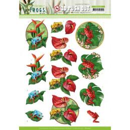 Carte 3D prédéc. - SB10524 - Friendly frogs - Grenouilles poison