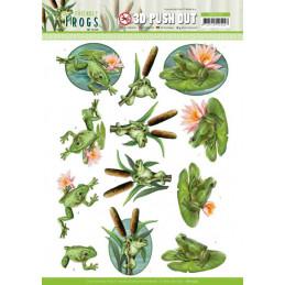 Carte 3D prédéc. - SB10525 - Friendly frogs - Grenouilles d'étang