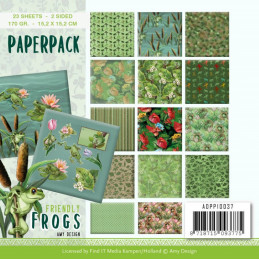 Bloc de papier - Amy Design - Friendly Frogs 15.2 x 15.2