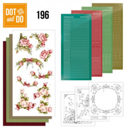 Dot and do 196 - kit Carte 3D  - Fleurs roses