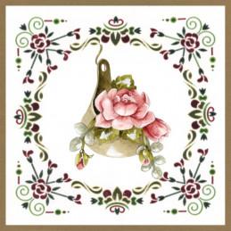 Dot and do 196 - kit Carte 3D  - Fleurs roses