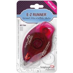 Dérouleur adhésif double-face E-Z Runner Strips Permanent - Bande Rayures - 15 m