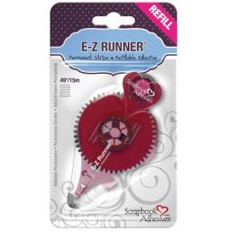 Recharge pour Dérouleur adhésif double-face E-Z Runner Strips Permanent - Bande Rayures - 15 m