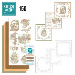 Stitch and do 150 - kit Carte 3D broderie - Naissance
