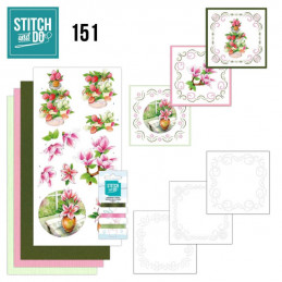 Stitch and do 151 - kit Carte 3D broderie - Bienvenue au Printemps