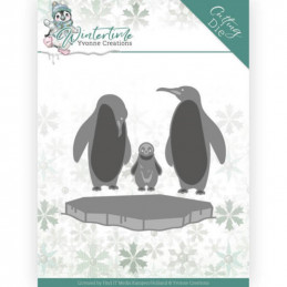 Dies - Yvonne Creations - Winter Time - Pingouins sur glace - YCD10218