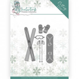 Dies - Yvonne Creations - Winter Time - Skis - YCD10219