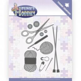 Dies - Yvonne Creations - Funky hobbies  - Le tricot - YCD10230