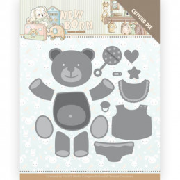 Dies - Yvonne Creations - Naissance - Nounours - YCD10232