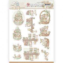 Carte 3D prédéc. - SB10519 - Naissance - Paniers de bébé