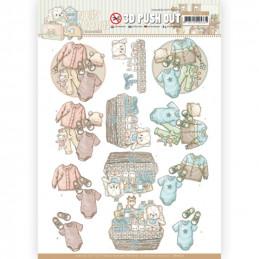 Carte 3D prédéc. - SB10520 - Naissance - Vêtements de bébé
