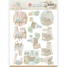 Carte 3D prédéc. - SB10522 - Naissance - Berceau de bébé