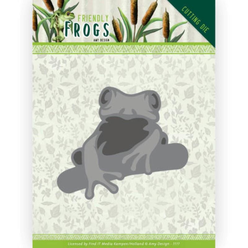 Die - ADD10230 - Friendly frogs - Grenouille sur branche
