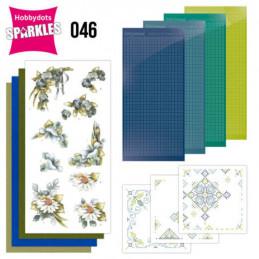 Kit Sparkles Set 46 - Fleurs bleues