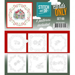 Cartes seules Stitch and do  - Set n°69