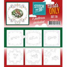 Cartes seules Stitch and do  - Set n°70