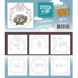 Cartes seules Stitch and do  - Set n°71