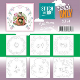 Cartes seules Stitch and do  - Set n°74