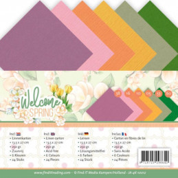 Set 24 cartes Jeanine's Art - Welcome spring 13.5x27cm