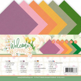 Set 24 feuilles  Jeanine's Art - Welcome spring A5 14.8 x 21 cm