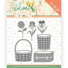 Die - Jeaninnes art - JAD10116 - Welcome Spring - Panier de fleurs