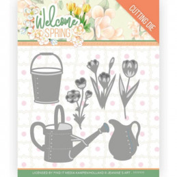 Die - Jeaninnes art - JAD10117 - Welcome Spring - Fleurs pot et arrosoirs