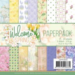 Bloc de papier - Jeanine art - Welcome spring 15.2 x 15.2