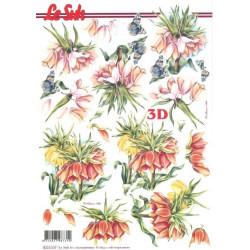 Carte 3D à découper -  papillons et fleurs