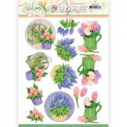 Carte 3D prédéc. - SB10529 - Welcome spring - Jacinthe