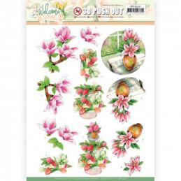Carte 3D prédéc. - SB10530 - Welcome spring - Magnolia