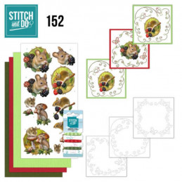 Stitch and do 152 - kit Carte 3D broderie - Animaux de la forêt
