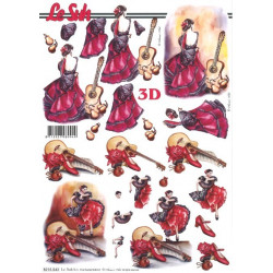 Carte 3D à découper - 8215543 - Flamenco