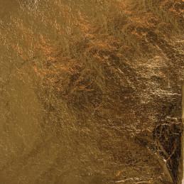 Deco métal, 14x14 cm,  5 feuilles Or