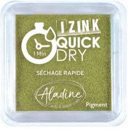 Encreur Izink Quick dry Vert olive 5x5 cm